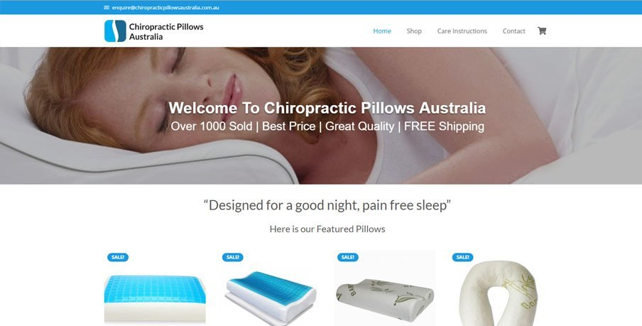 Chiropractic Pillows Australia